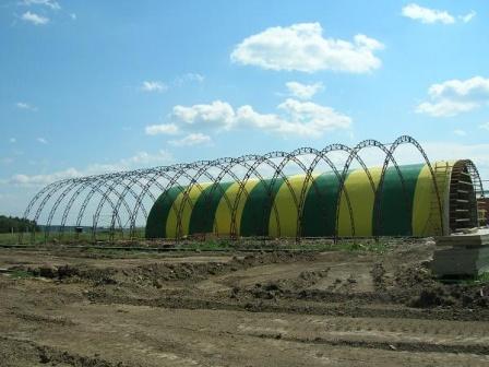 Состояние строительства ангаров на 1.07.2008