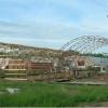 Состояние строительства ангаров на 01.06.2008